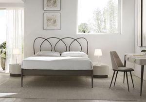 Helios lit, Double lit avec les jambes coniques en métal