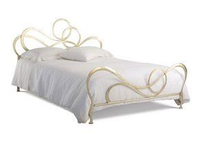 J'adore lit, Lit double moderne à laser plat fer de coupe
