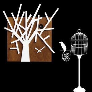 Twig, Horloges en forme de l'arbre de coucou, en bois, pour le salon