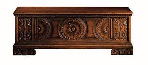Pitigliano ME.0812, Sienne poitrine en noyer sculpté, pour les villas classiques