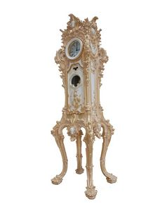Horloge de parquet art. 083, Horloge grand-père, sculpté à la main, pour les chambres de luxe