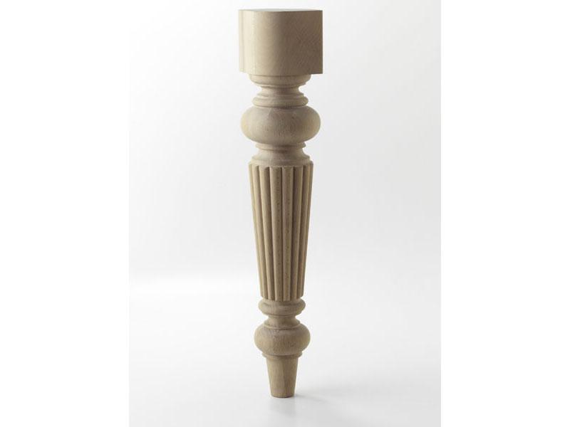 LEG B, Jambe de bois tourné pour table moderne