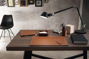 Ascanio 5pz, Accessoires de bureau en cuir