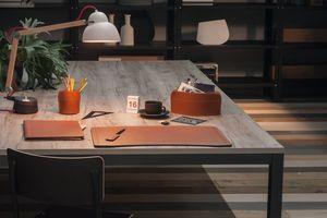 Brando 5pz, Collection élégante d'accessoires de bureau en cuir régénéré