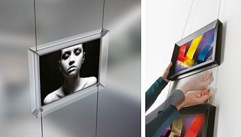 Brera 2, Exposants double face pour les bureaux et commerces