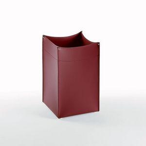Panier carré, Cuir de déchets de papier à base carrée, pour bureau et la maison