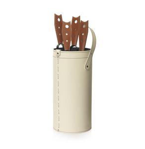 Cinta, Boîte à outils en cuir lié, avec fond en contreplaqué