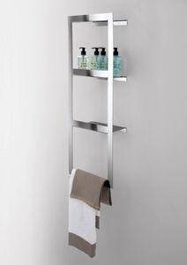 Kiri étagère, étagère murale avec porte-serviettes, de salle de bain