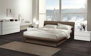 Chambre 13, Meubles pour chambre à coucher, lit en bois avec un design contemporain
