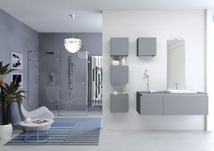 Plane 2D 02, Composition pour salle de bains, avec des unités murales