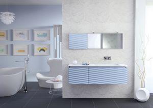Plane 3D 02, Meubles de salle de bains, laqué mat, drain de lame
