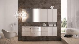 Round AM 119, Meubles avec une finition brillante, idéal pour les salles de bains modernes