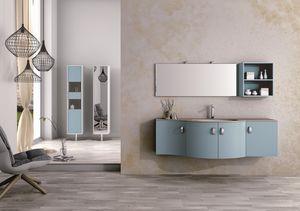 Round AM 121, Meubles de salle de bains, avec des lignes sinueuses, divers matériaux