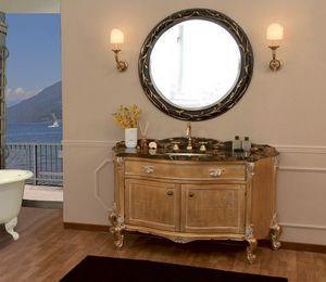 Art. 2700 Donatella, Salle de bains vanité avec dessus en marbre, des finitions de feuille d'or