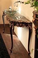 Art. 901-SH Clara, Meubles de salle de bains, en bois de hêtre, dessus en marbre