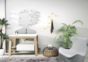 Bath Table 02, Composition pour salle de bains, dans les cendres, lavabo intégré