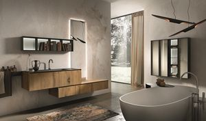 Chrono 310, Composition du bain en bois de chêne antique et le marbre Marengo