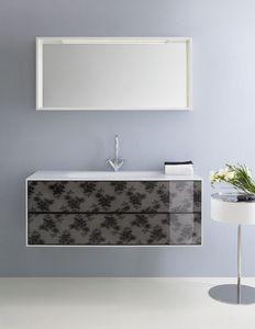 Cocò 03, Armoire de salle de bains, avec des tiroirs ornés de dentelle noire