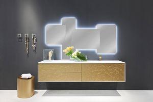 Cocò Flower 01, Mobilier de luxe pour salle de bains, décorée à la main