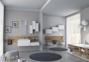 Domino 09, Meubles de salle de bains, avec laquées unités murales
