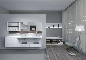 Quaderno2 DO 10, Composition du bain, étagères en noyer