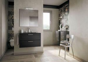 Dressy comp.03, Meuble de salle de bain élégant avec tiroirs