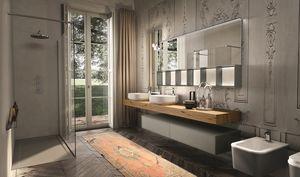 Enea 312, Armoire de toilette avec miroir en verre sablé