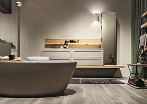 Ker 317, Composition du bain avec miroir avec une bande lumineuse