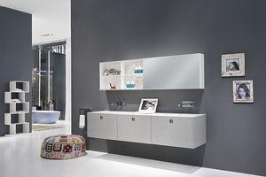 Kube 03, Meubles de salle de bains élégante, avec des lignes modernes