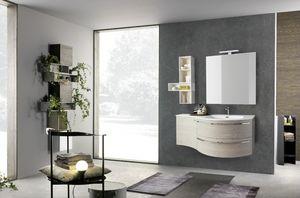 Lime Ø comp.33, Cabinet encastré de salle de bains, avec lavabo minéralmartre