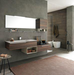 Lime Ø comp.40, Meubles de salle de bain avec grand vasque et étagères