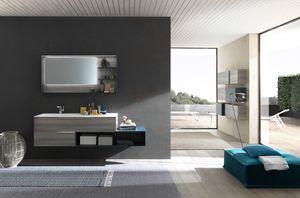 Lime Ø comp.46, Meubles de salle de bain élégants, avec un design minimal