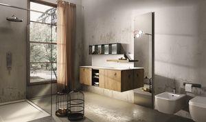Maia 301, Meuble de salle de bains avec étagère avec robinet rétractable