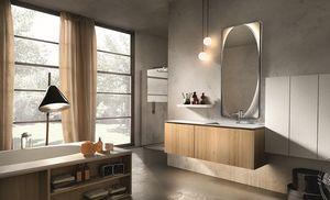 Maia 303, Meubles de salle de bains en bois et en marbre