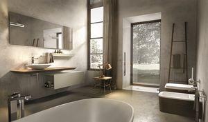 Maia 304, Composition de meubles de salle de bain, avec console et miroir