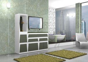 Mobilier de salle de bains B2, Meubles de salle modulaire en différentes couleurs, en stratifié