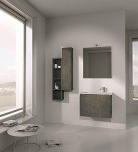 Singoli S 01, Meubles de salle de bain, avec évier intégré