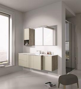 Singoli S 27, Meubles de salle de bains avec lavabo et armoires