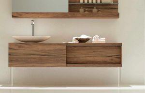 Slide 01, Base de Monoblock pour salle de bains, avec porte coulissante