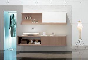 Slide 03, Composition élégante pour salle de bains, avec finition chêne blanchi