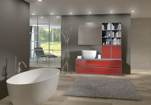 Torana TR 009, Meubles de salle de bains avec lavabo et bibliothèque