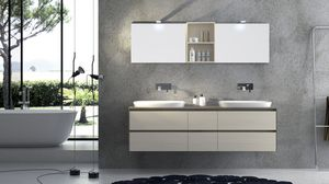 Torana TR 001, Meubles avec 2 lavabos, avec dessus TRANCHE