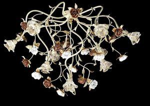 95609, Plafonnier avec fleurs décoratives