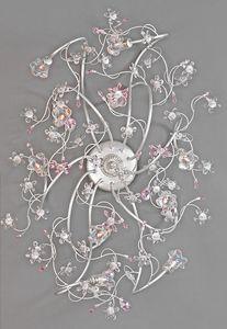 988010, Plafonnier avec fleurs en verre