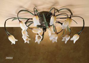 Art. 26690 Butterfly, Plafonnier fait à la main avec un design classique