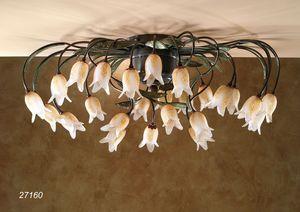 Art. 27160 Butterfly, Plafonnier avec fleurs en verre de Murano