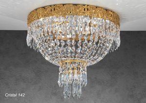 Art. CRISTAL 142, Plafonnier luxueux avec pendentifs en cristal