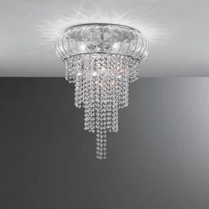 Cascata Sc366-015, Magnifique lampe de plafond en cristal, soufflé à la bouche