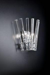 CIRCLE L 27, Applique murale en cristal transparent