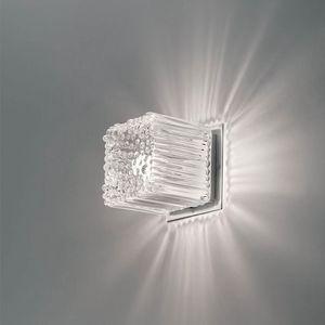 Cubetto La609-015, Appliqué en forme de cube en verre soufflé